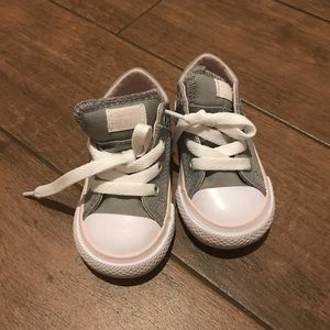 Pink & Gray Toddler Converse Sneakers